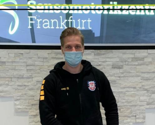 Timo Kunert im Sensomotorikzentrum